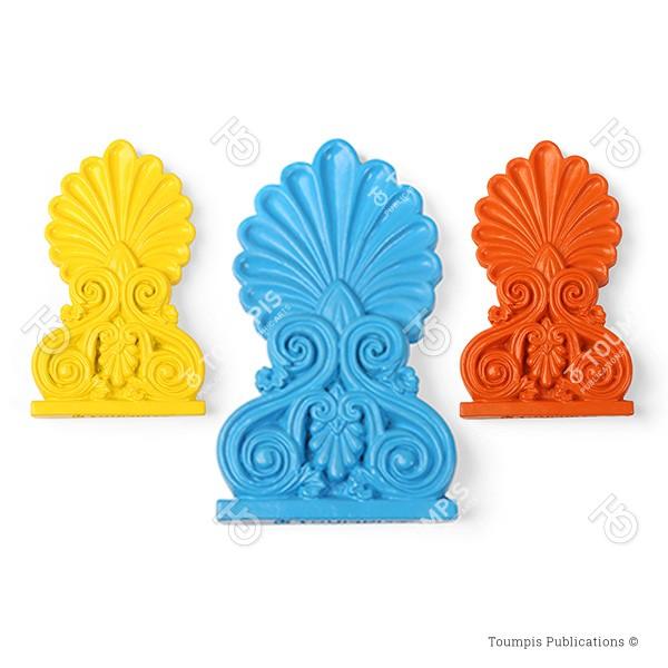Antefix, Ακροκέραμο, akrokeramo, ανθέμιο, anthemio, arxaia elliniki architektoniki, keramiko diakosmhtiko, κεραμικό διακοσμητικό, αρχαία ελληνική αρχιτεκτονική