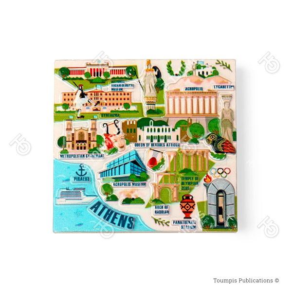 Αθήνα, Αθήνα χάρτης πόλης, αξιοθέατα Αθήνας, landmarks of Athens, athina axiotheata, athina xarths
